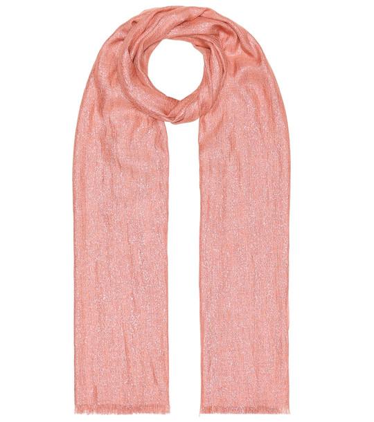 Brunello Cucinelli Cashmere-blend scarf in pink