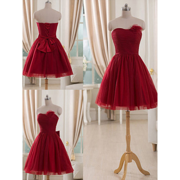 dress prom prom dress short mini mini dress short dress red red dress bow bow dress tulle dress special occasion dress bridesmaid fashion trendy girly cute fabulous wow amazing cool beautiful cute dress vogue style stylish