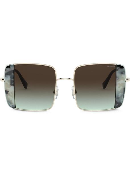 Miu Miu Eyewear Noir oversized-frame sunglasses in brown
