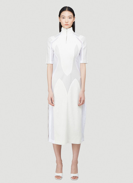 GmbH Panelled Zip-Up Dress in White size XS