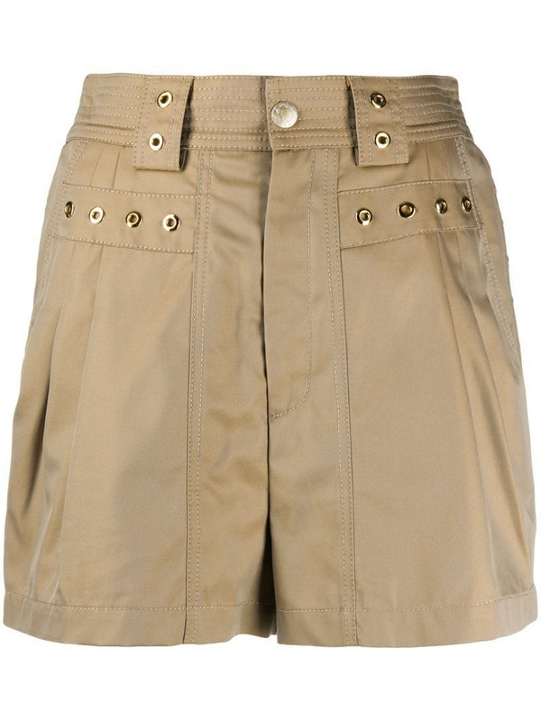 Koché eyelet-detail shorts in neutrals