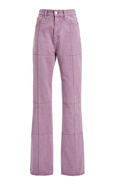 Jacquemus Carro Organic Cotton Straight-Leg Jeans in purple