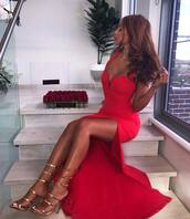 dress,red dress,red gown