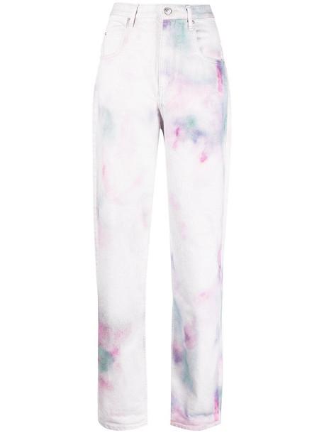 Isabel Marant Étoile tie-dye print straight jeans - CELADON 60CE