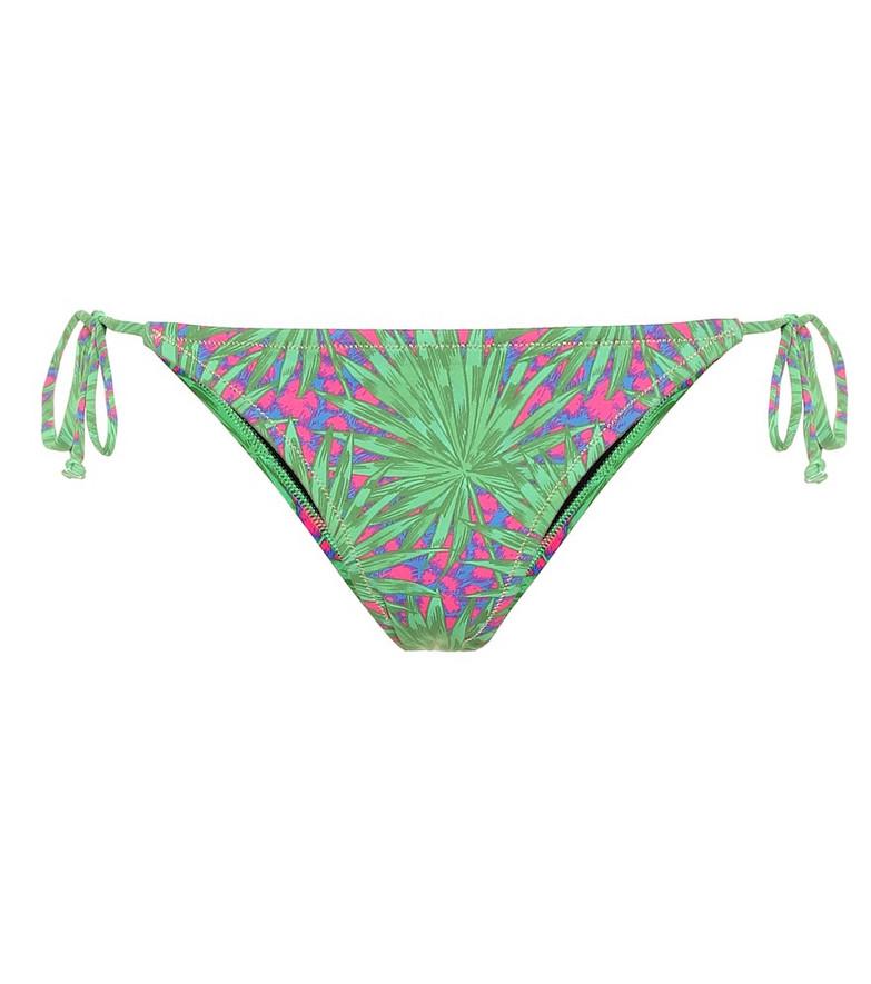 Reina Olga Love Triangle printed bikini bottoms in green