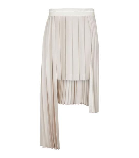 Peter Do Pleated asymmetric midi skirt in white