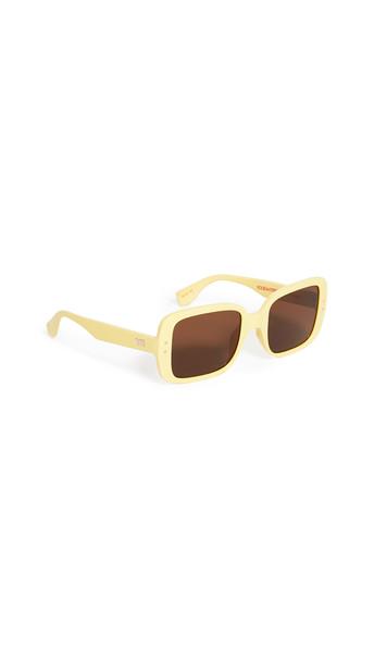 Le Specs Saline Sunglasses in brown / yellow