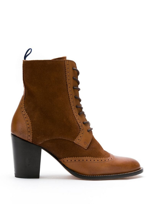 Blue Bird Shoes leather Méknes boots in brown