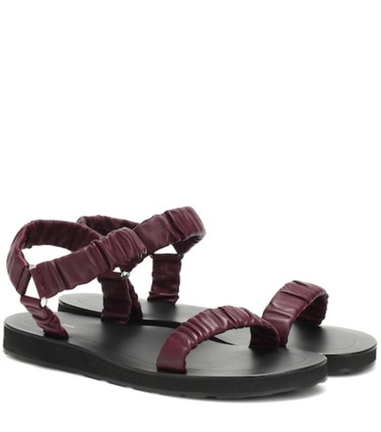 The Row Egon leather sandals in brown