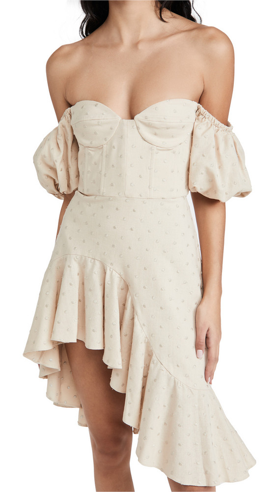 Giuseppe di Morabito Off Shoulder Dress in beige