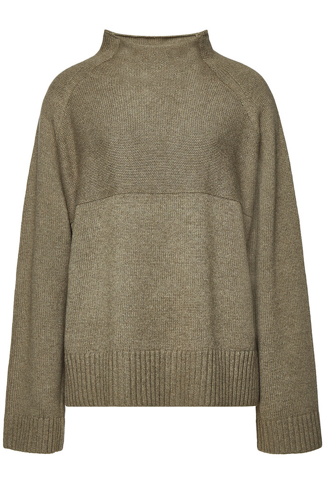 By Malene Birger Brianne Pullover with Merino Wool  in green