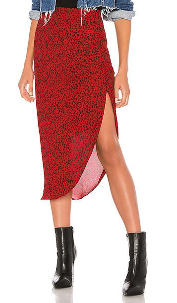 BB Dakota Ruched Awakening Skirt in Red