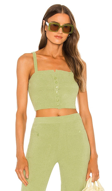 Song of Style Caspian Top in Green