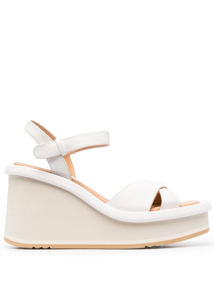 Paloma Barceló Paloma Barceló platform leather sandals - White