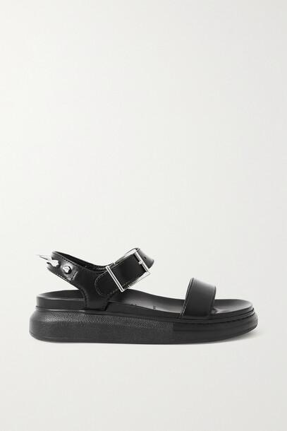 Alexander McQueen - Spiked Leather Sandals - Black