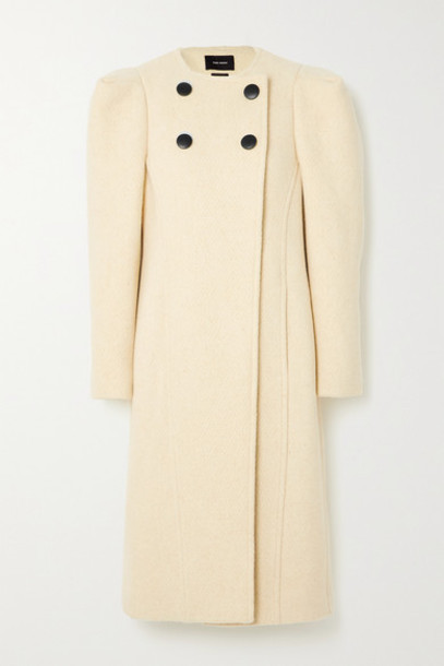 Isabel Marant - Fezio Double-breasted Wool-blend Coat - Ecru