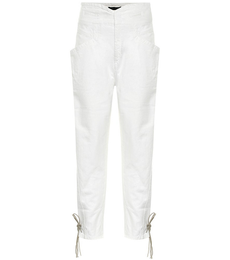 Isabel Marant Nubaia high-rise jeans in white