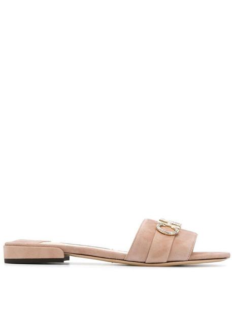 Jimmy Choo Joni flat sandals in neutrals
