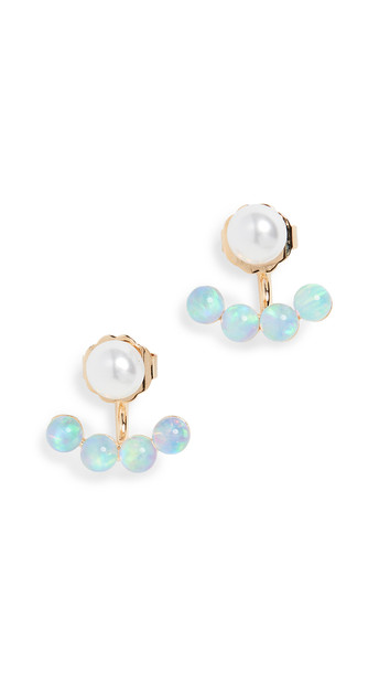 Lionette by Noa Sade Antibes Imitation Pearl Earrings in gold
