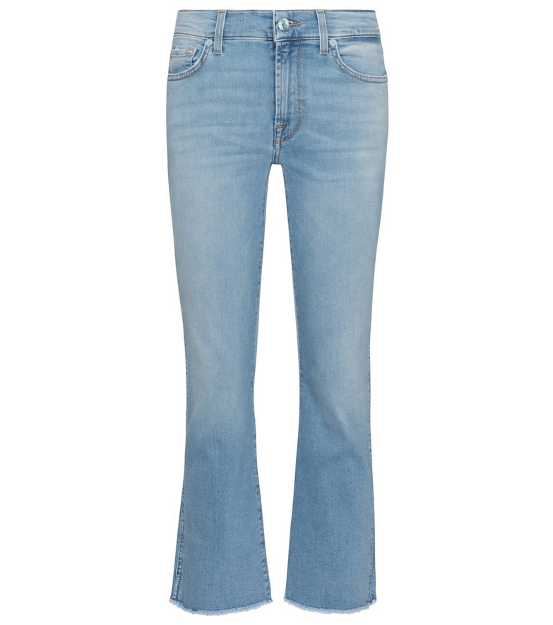 7 For All Mankind Cropped Boot mid-rise jeans in blue