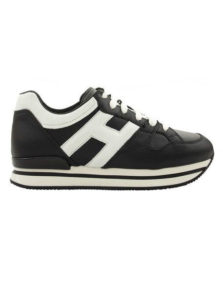 Hogan Paneled Sneakers in black / white