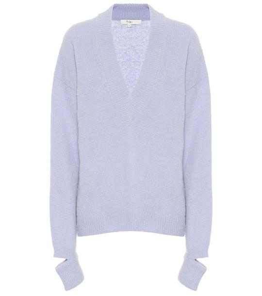 Tibi Alpaca-blend sweater in blue