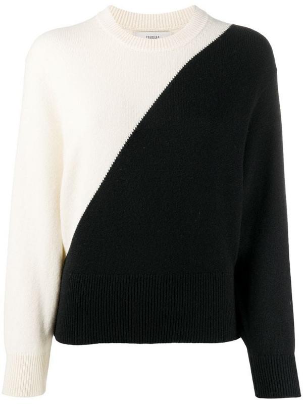 Pringle of Scotland two-tone crew neck sweater in white