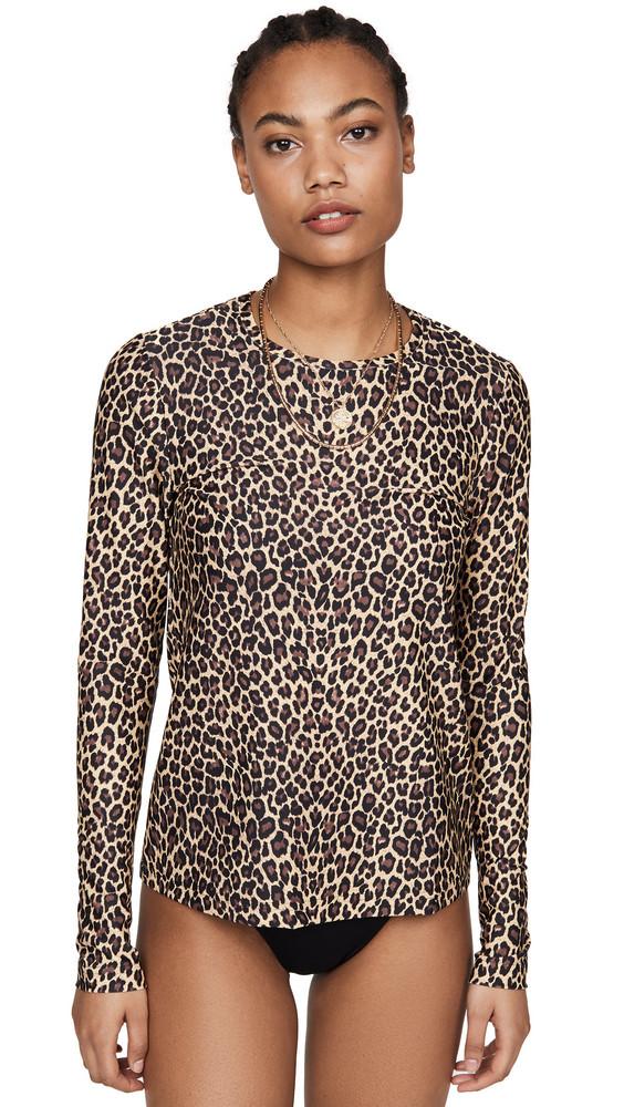 Cover Swim Tee in leopard