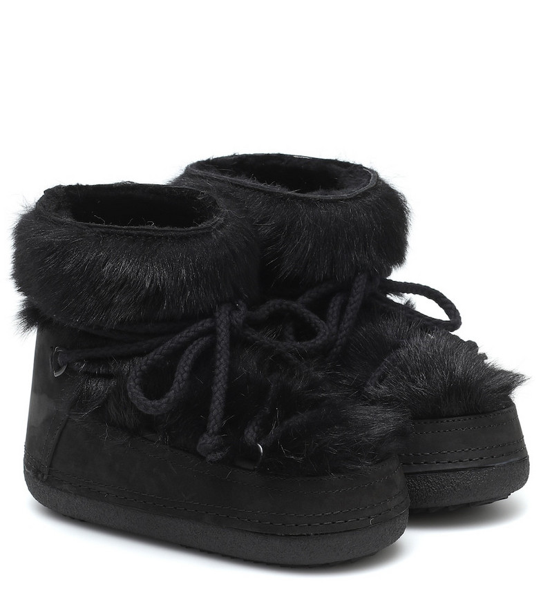 Inuikii Toskana shearling and suede boots in black