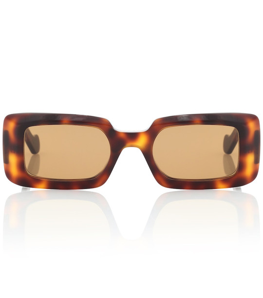 Loewe Rectangular acetate sunglasses in brown