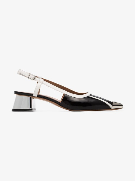 Marni metal toe cap pumps in black