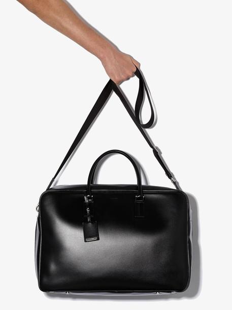 Jil Sander black J Vision leather tote bag