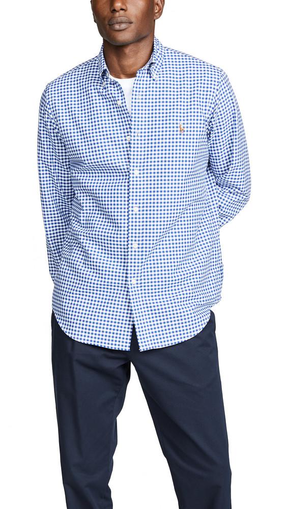 Polo Ralph Lauren Gingham Oxford Shirt in blue / white
