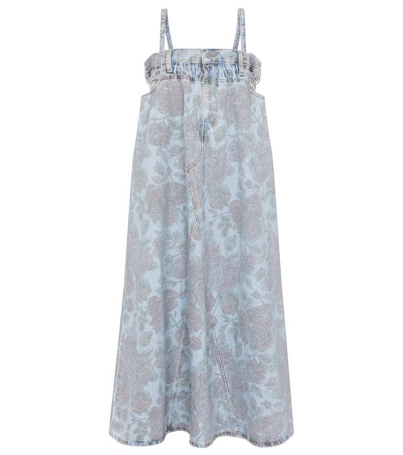 Ganni x Levi's® floral denim midi dress in blue