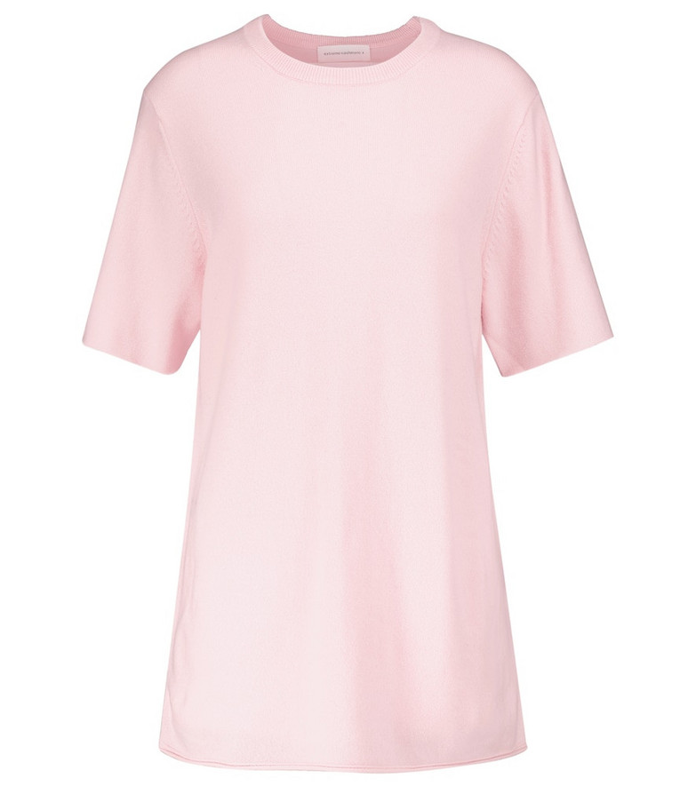 Extreme Cashmere N° 64 cashmere-blend T-shirt in pink