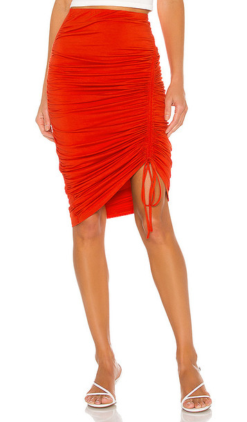 Privacy Please Emma Midi Skirt in Red