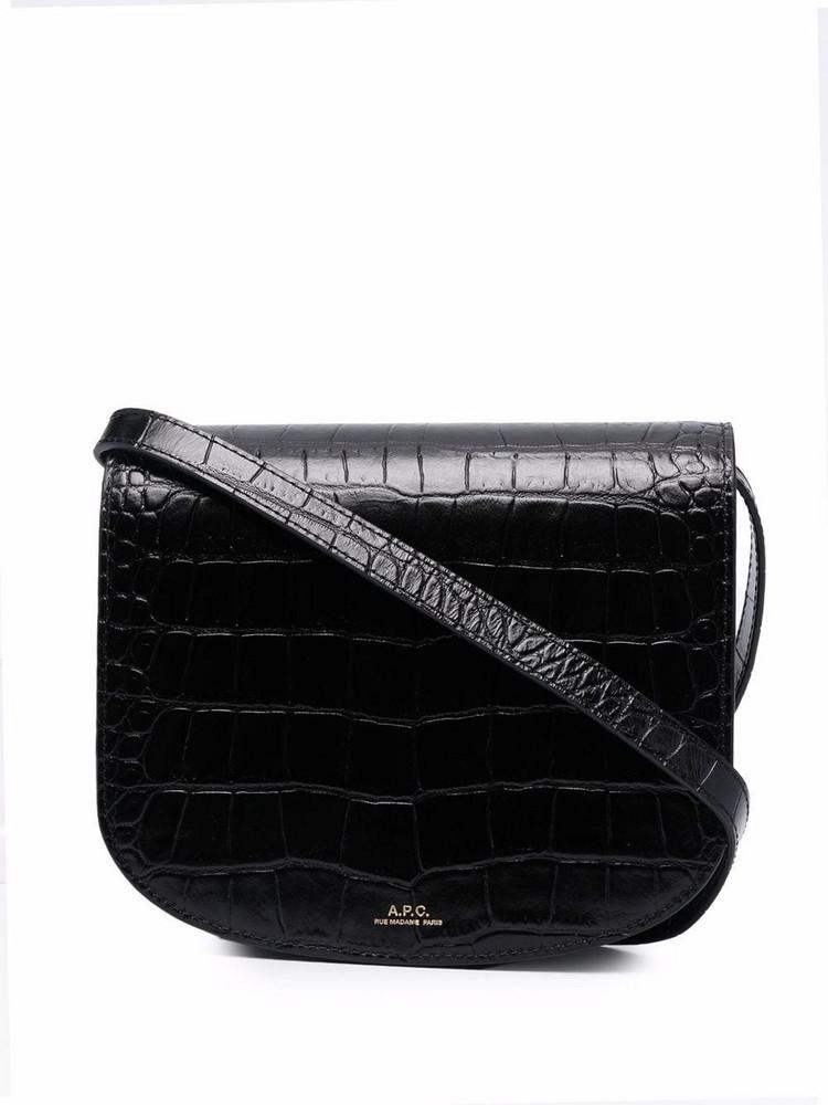 A.P.C. A.P.C. Dina croc-effect crossbody bag - Black