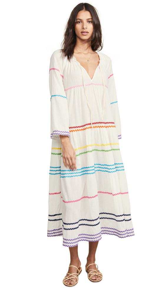 9seed Majorca Long Sleeve Maxi Dress in white