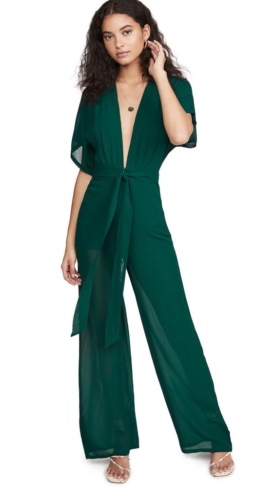 Reformation Lemongrass Jumpsuit in emerald