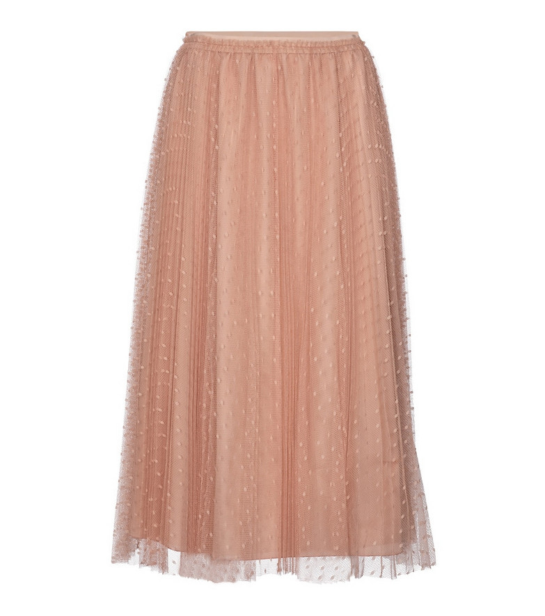 REDValentino point d'esprit tulle midi skirt in pink