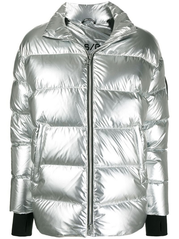 Moose Knuckles Replin quilted coat in silver