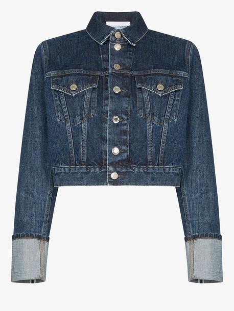 Helmut Lang Fem Little Trucker cropped denim jacket