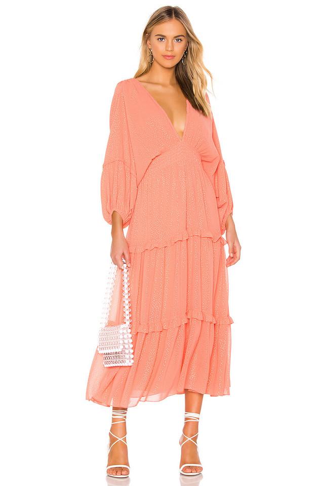 MISA Los Angeles Ria Dress in orange