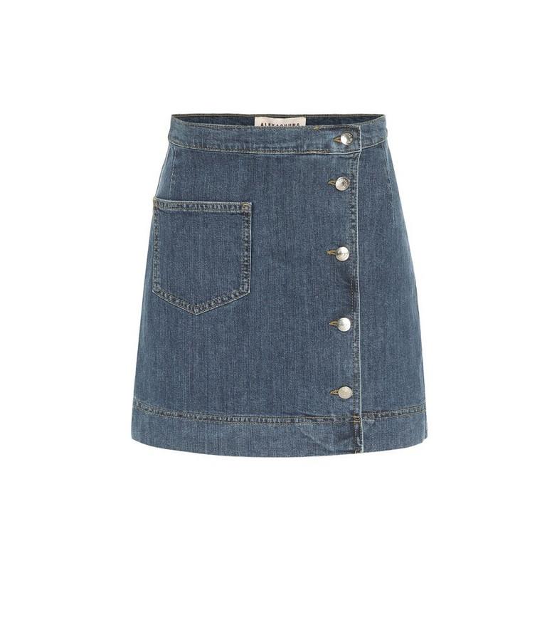 AlexaChung 1976 denim miniskirt in blue