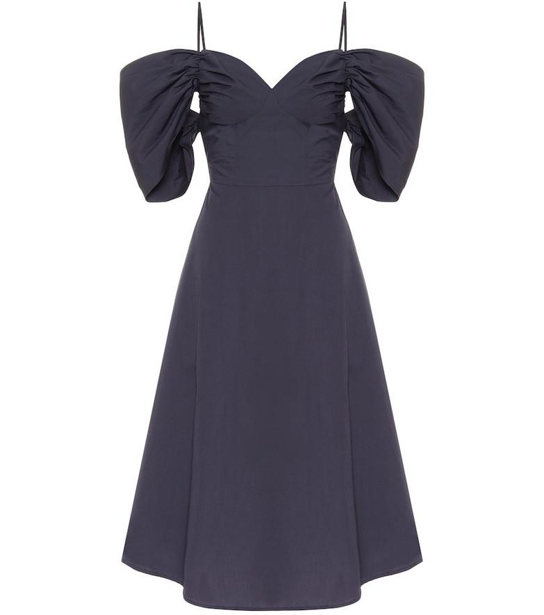 Cult Gaia Katalina off-shoulder cotton dress in blue