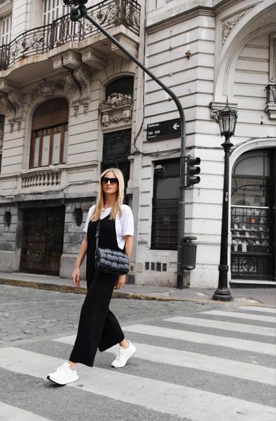 mija blogger sunglasses bag t-shirt jumpsuit shoes