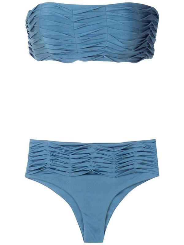 ESC Lumi draped bikini set in blue