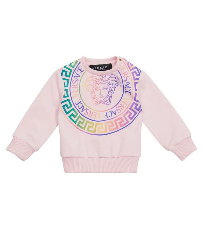 Versace Kids Baby Medusa sweatshirt in pink