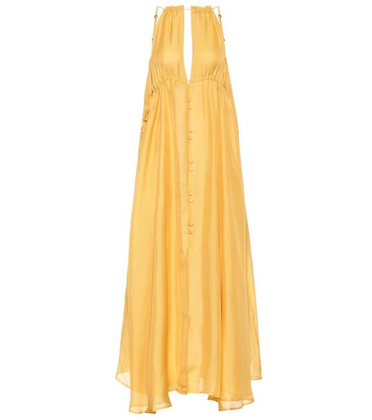 Cult Gaia Agatha silk maxi dress in yellow