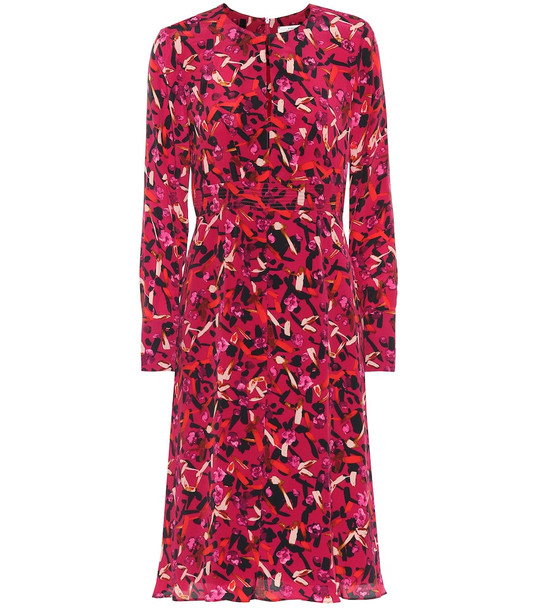 Dorothee Schumacher Exclusive to Mytheresa – Printed silk-blend midi dress in pink